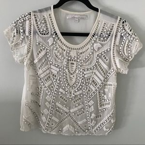 Lovers & Friends Daycation Beaded Top Small